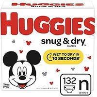 额外立减$4 HUGGIES 好奇Snug & Dry 婴幼儿尿布,Newborn-6号