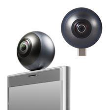 """Elecom宜丽客 360度相机 智能手机直插式 静止画/视频(2.5K)/VR""""全天球相机"""