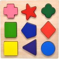 $6.79 (原价$16.5) 美亚销量冠军GYBBER&MUMU 儿童早教木制形状认知玩具