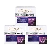 ¥113.89 中亚Prime会员!L'Oréal 欧莱雅 抗皱保湿晚霜 含钙原因子 适合55岁+ 50m