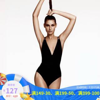 MEMORYBABY DZH68 V领露背连体泳衣 *2件 204元(合102元/件)