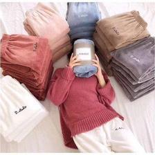 网红爆款仙女珊瑚绒暖暖裤套装 29.9元