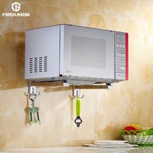 微波炉支架厨房304不锈钢 微波炉烤箱置物架支架壁挂式托架  券后18元