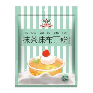 吉得利 布丁粉 烘焙原料 果冻粉甜品 抹茶味200g *5件 19元(合3.8元/件)