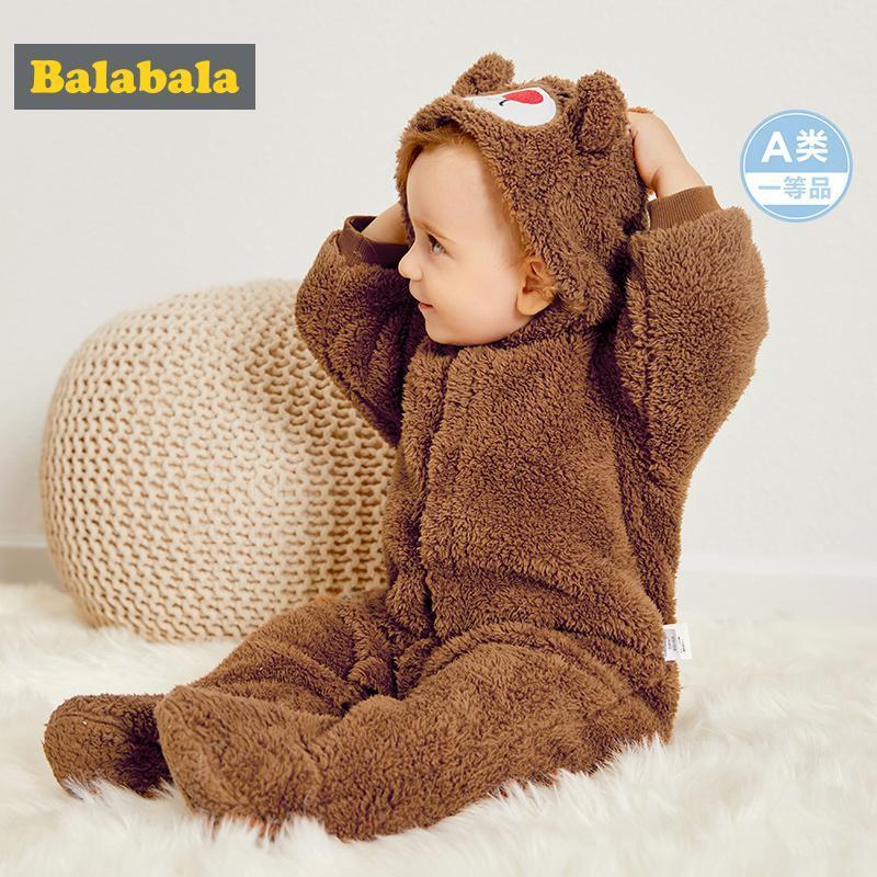 Balabala 巴拉巴拉 婴儿珊瑚绒连体衣 50元(满200减100)