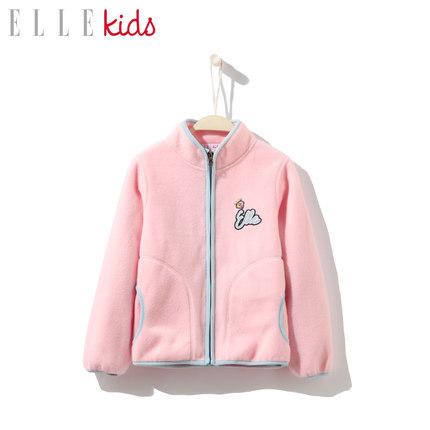 2019新款,ELLE kids 女童摇粒绒休闲外套 69元包邮(需领券)