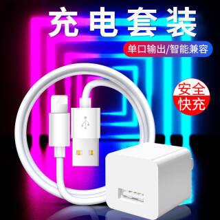 雷瑞科 iPhone6s充电器5s/6/6plus/7/8/x充电器+数据线  券后13.9元包邮