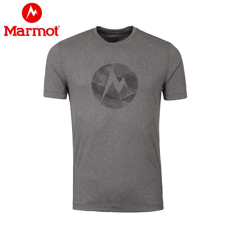 Marmot/土拨鼠18春夏新款户外透气吸湿排汗男速干短袖T恤 S54880 189元