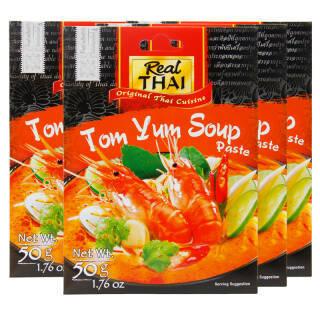 泰国进口 丽尔泰 冬荫功酱 泰式咖喱酱 冬阴功酱 50g*4 *4件 41.6元(合10.4元/件)