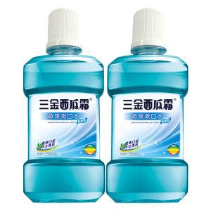 三金 西瓜霜清洁漱口水250ml*2瓶+6支牙刷 14.99元包邮
