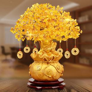 黄水晶发财树家居摆件招财摇钱树 券后¥35.9