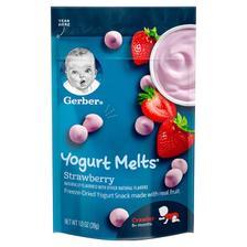 Gerber 嘉宝 草莓酸奶溶豆 3段 28g *5件 68.4元含税