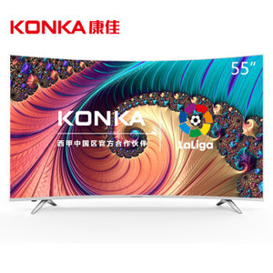 KONKA 康佳 LED55UC3 55英寸 曲面 4K液晶电视 1499元包邮(需用券)