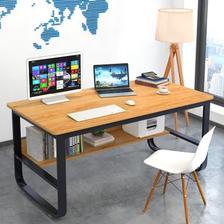 物植 ZT-06 电脑桌 黄梨木色 80*45cm 98元包邮