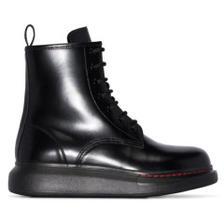 36.5码好价~ALEXANDER MCQUEEN 厚底马丁靴