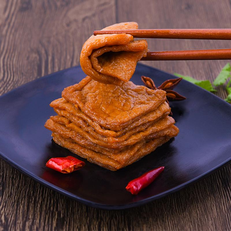 老周卤汁豆腐干原味麻辣办公室休闲小零食散装香辣条豆干休闲食品 5.1元