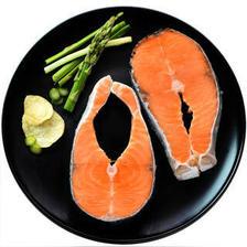美加佳 冷冻智利筒切三文鱼排 大西洋鲑 420g 袋装 海鲜水产 *4件 129元(合32.