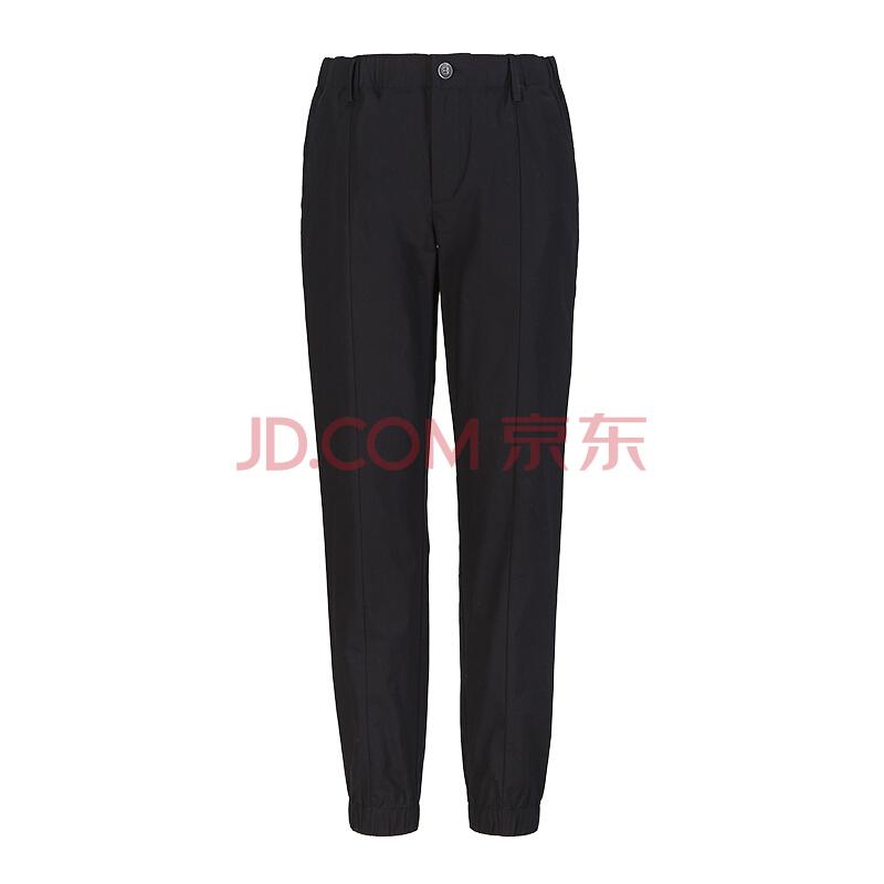 ¥99 京东京造 J.ZAO 男士天丝(莱赛尔纤维)弹力束脚休闲裤 黑色 35 (180/88A)