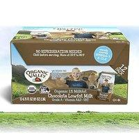 $13.58 宝宝爱喝的好牛奶 Organic Valley 有机低脂巧克力牛奶12盒 6.75oz