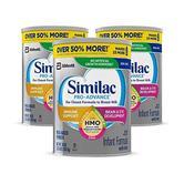 Similac 美国雅培 1段HMO低聚糖非转基因加铁婴儿奶粉 1.02kg*3罐装 prime含税到手价为810元