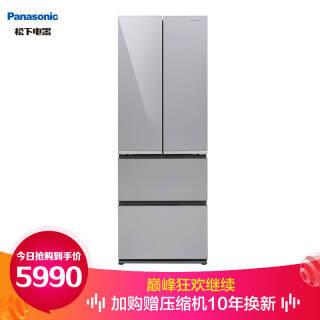 松下(Panasonic) NR-JD40ATX-S 多门冰箱  券后5640元