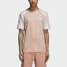 折合88.13元 adidas阿迪达斯3-Stripes 男士T恤 粉色