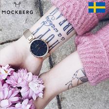 瑞典进口 时尚大牌mockberg 简约女士手表Mesh-02 券后369元包邮