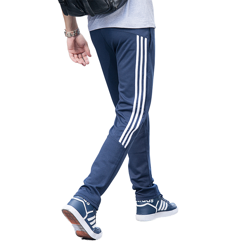 ¥49 三道杠运动长裤男青少年修身直筒跑步针织卫裤休闲篮球裤夏季新款