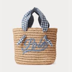 Ralph Lauren 拉夫劳伦 Gingham Logo 儿童篮子包