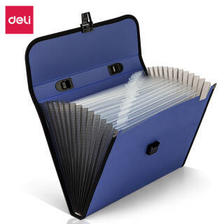 得力(deli)13格A4办公手提风琴包资料包文件包 蓝色 *8件 96元(合12元/件)