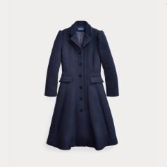 Ralph Lauren 拉夫劳伦 Wool-Blend Princess Coat 羊毛混纺大童大衣