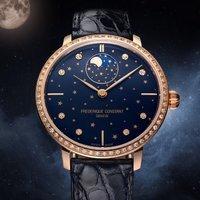 额外减$50 $2925+免税包邮独家:Frederique Constant 镶钻月相机械女表