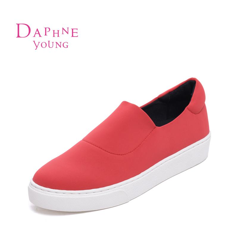 Daphne/达芙妮春季新款简约平底一脚蹬乐福鞋女单鞋1516101019 19元
