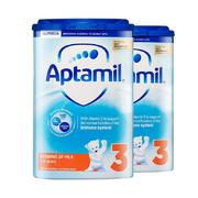Aptamil 爱他美 婴幼儿奶粉 3段 900g*2罐 *2件 381.8元包邮(合190.9元/件)'