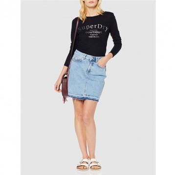 Superdry 极度干燥 Denim Mini 女士牛仔半身裙 6.9折 直邮中国 ¥242.92