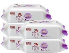 ¥7.9 智慧豚 婴儿手口湿巾 80抽*5包