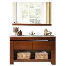 DVI 谛唯 D6058 橡木实木浴室柜套装 D款单镜 0.82M 1899元包邮