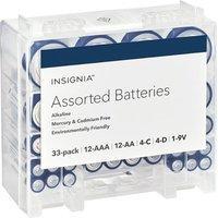 $10.79Insignia AAA /AA/C/D/9V电池套装 33颗