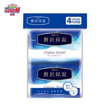GOO.N 大王 elleair 奢华保湿系列 保湿面纸 14抽*4包 *2件 7元(合3.5元/件)