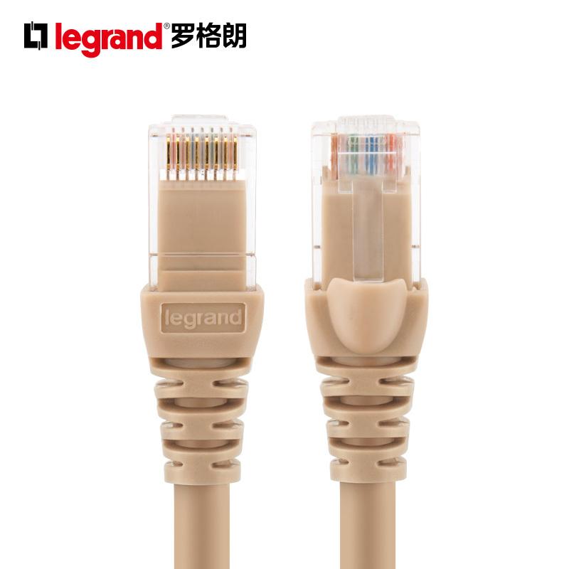 罗格朗开关插座面板非屏蔽网络线网线跳线家用 8.69元