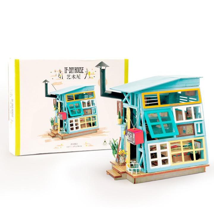 Robotime 若态 DIY小房子模型 DGM03 浮日隐记 69元包邮
