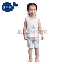 京东PLUS会员: misslele 米乐鱼 儿童睡衣套装 *2件 75元(合37.5元/件)