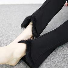 秋冬新款高腰女弹力修身毛边微喇长裤 券后¥49