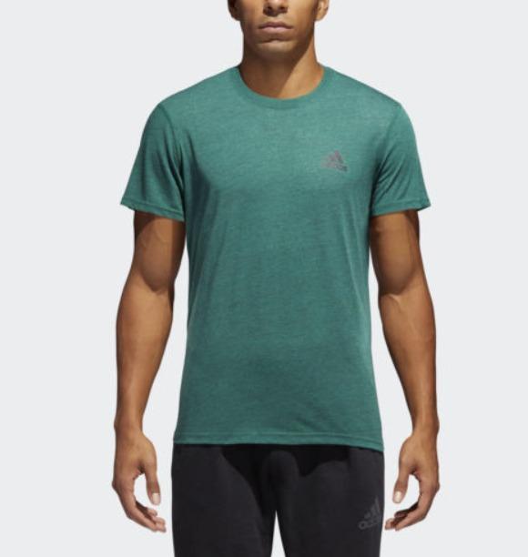 折合77.17元 限尺码 : adidas 阿迪达斯 Ultimate 2.0 男士运动T恤 $10.5