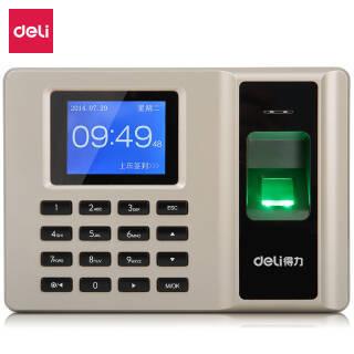 得力(deli)33153 智能指纹考勤机 免软件脱机打卡机 自动生成报表 U盘下载 *2件 326元(合163元/件)