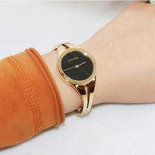 Calvin Klein 卡尔文·克莱因 Addict 系列 黑金配色女士时装腕表 K7W2M511
