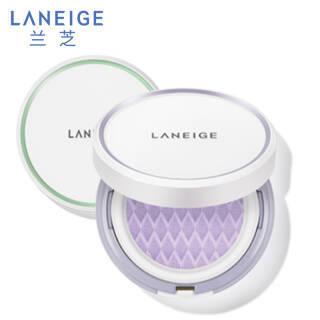 兰芝(LANEIGE) 雪纱丝柔气垫隔离霜 NO.40紫色(15g+15g 替换装) *2件 155.38元(合77.69元/件)