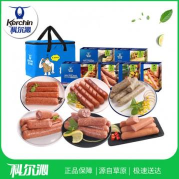 科尔沁 高端牛肉肠 6盒 1608g 5折 ¥119.9