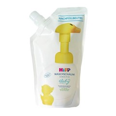 【中亚Prime会员】Hipp 喜宝 小黄鸭免敏无泪泡沫洗手液补充剂替换装 250ml*6袋