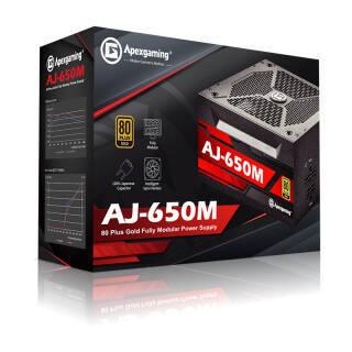 Apexgaming 艾湃电竞 AJ-650M 额定650W 全模组电源(80PLUS金牌)  券后414元